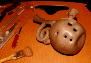 Pinch Pot Ball Ocarina - Finger Holes