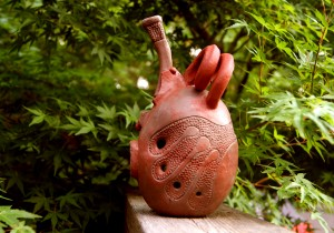 B-Flat Ocarina in stoneware