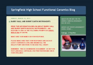 Springfield High Functional Ceramics Blog